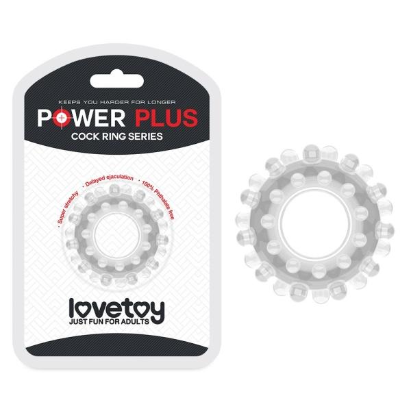 Прозрачное эрекционное кольцо POWER PLUS Cockring