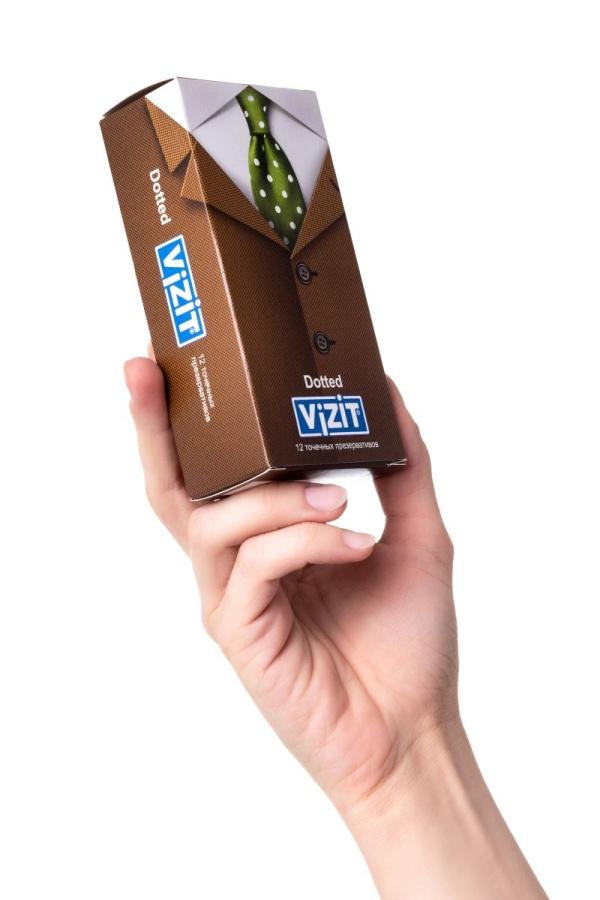 Презервативы с точечками VIZIT Dotted - 12 шт.