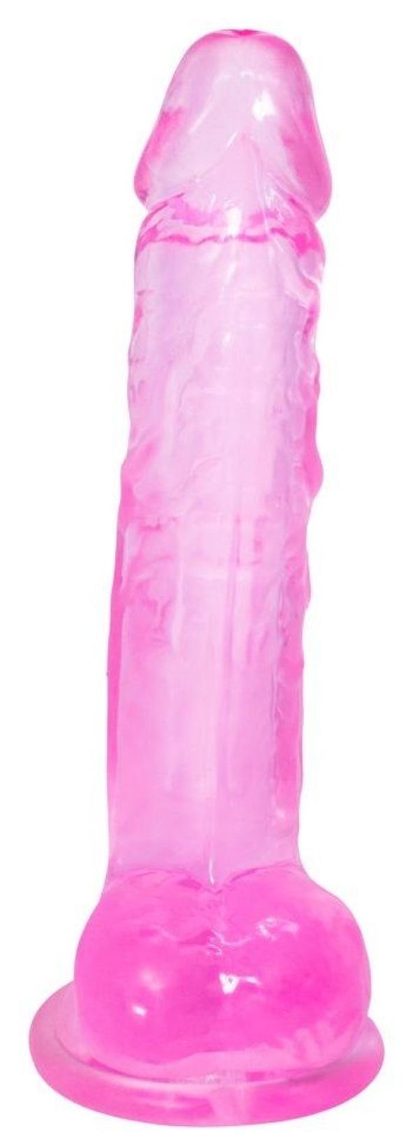 Розовый фаллоимитатор Rocket - 19 см.