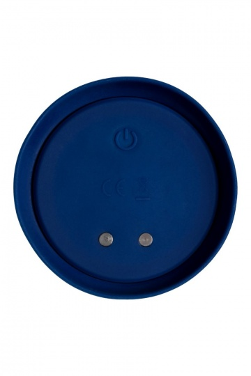 Синяя анальная вибровтулка OPlay Wave с пультом ДУ - 15,5 см.