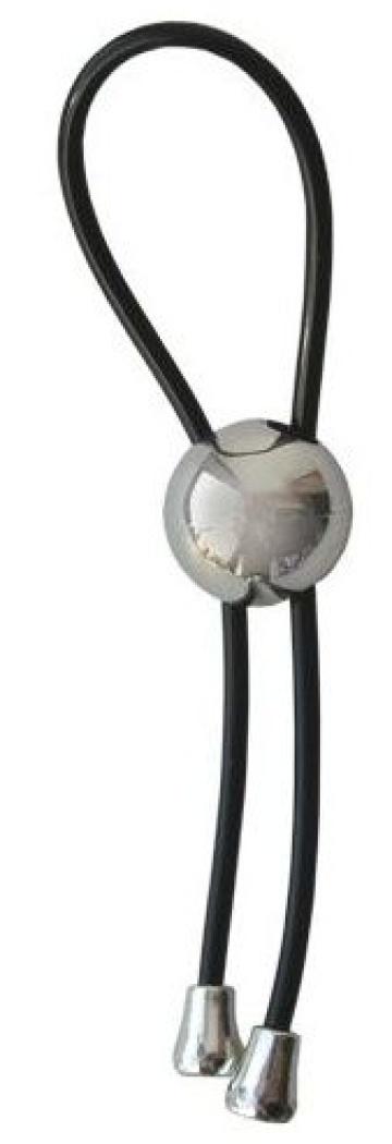 Черное эрекционное кольцо-лассо