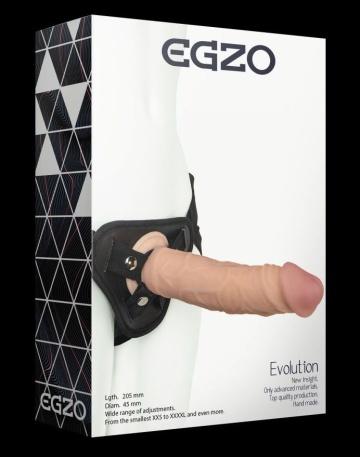 Страпон harness со съемной насадкой - 20,5 см.