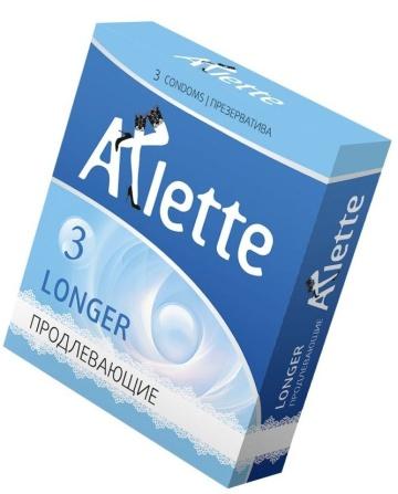 Презервативы Arlette Longer с продлевающим эффектом - 3 шт.