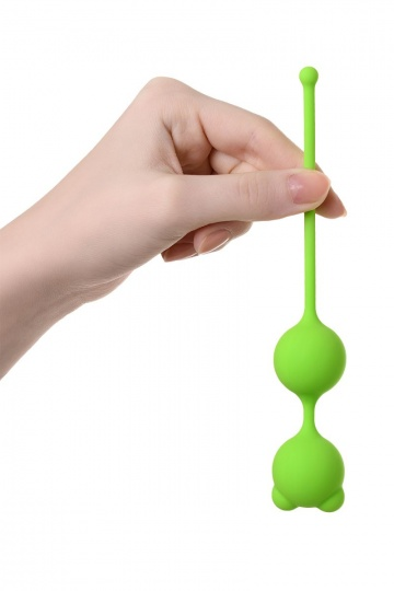 Зеленые вагинальные шарики A-Toys с ушками