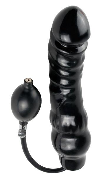 Фаллоимитатор с функцией подкачки Inflatable Ass Blaster - 23 см.