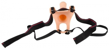 Силиконовый полый страпон на ремнях Silicone Strap-on - 16 см.