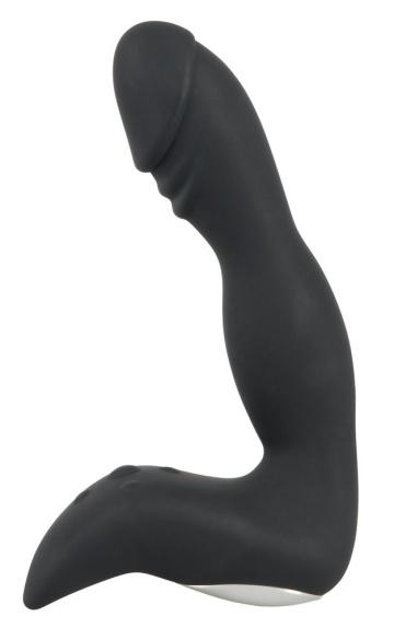 Черный перезаряжаемый вибростимулятор простаты Rechargeable Prostate Stimulator