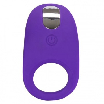 Фиолетовое эрекционное виброкольцо Silicone Rechargeable Passion Enhancer