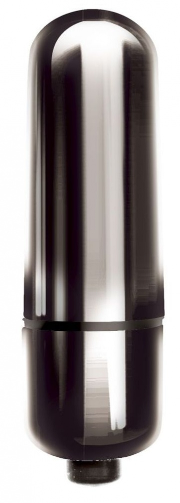 Черная гладкая вибропуля Mady - 6 см.