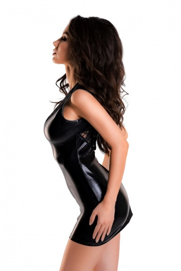 Сексуальное платье Lulu из материала с мокрым блеском