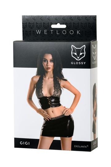 Чарующий комплект Gigi из материала с мокрым блеском
