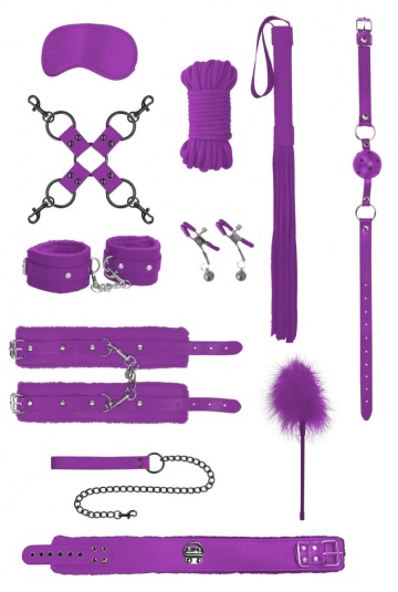 Фиолетовый игровой набор БДСМ Intermediate Bondage Kit