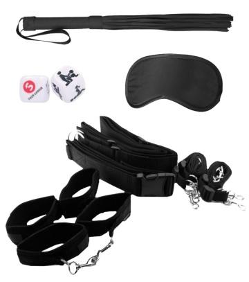 Черный игровой набор БДСМ Bondage Belt Restraint System