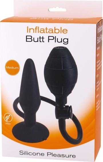 Анальная пробка с функцией расширения Inflatable Butt Plug Medium - 14,2 см.
