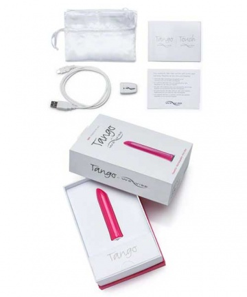 Розовый мини-вибратор Tango Pink USB rechargeable