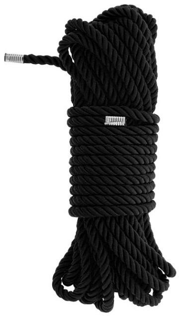 Черная веревка для бондажа BONDAGE ROPE - 10 м.