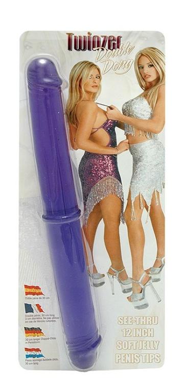 Двухсторониий фаллоимитатор Twinzer Double Dong - 33 см.