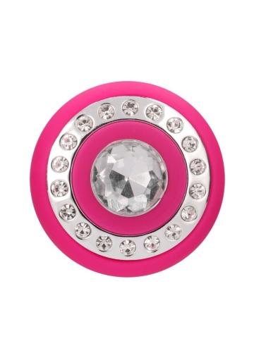 Розовый классический вибромассажер Jewel - 19,5 см.