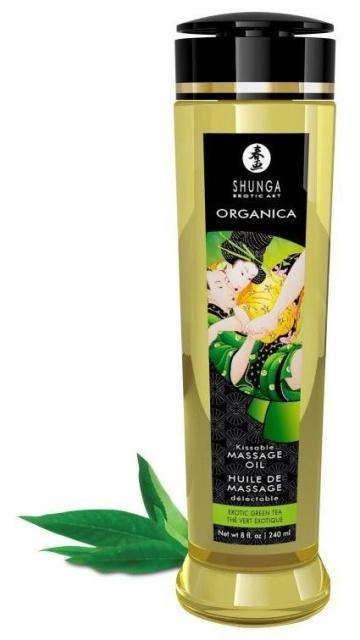 Массажное масло Organica с ароматом зеленого чая - 240 мл.