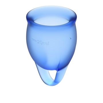 Набор синих менструальных чаш Feel confident Menstrual Cup