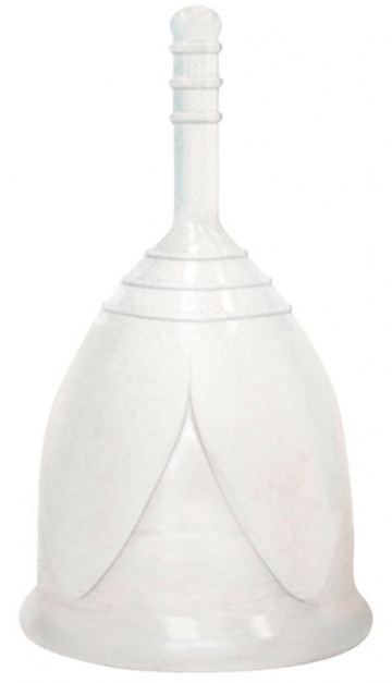 Белая менструальная чаша размера S