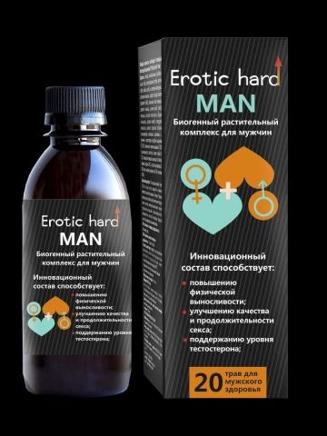 Мужской биогенный концентрат для усиления эрекции Erotic hard Man - 250 мл.