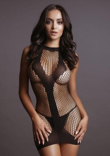 Эффектное мини-платье Met Contrast Mini Dress