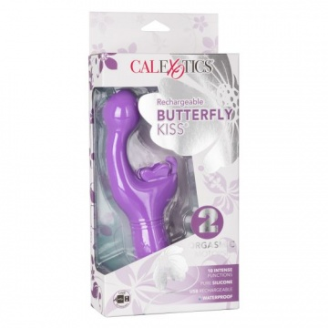 Фиолетовый вибратор-кролик Rechargeable Butterfly Kiss
