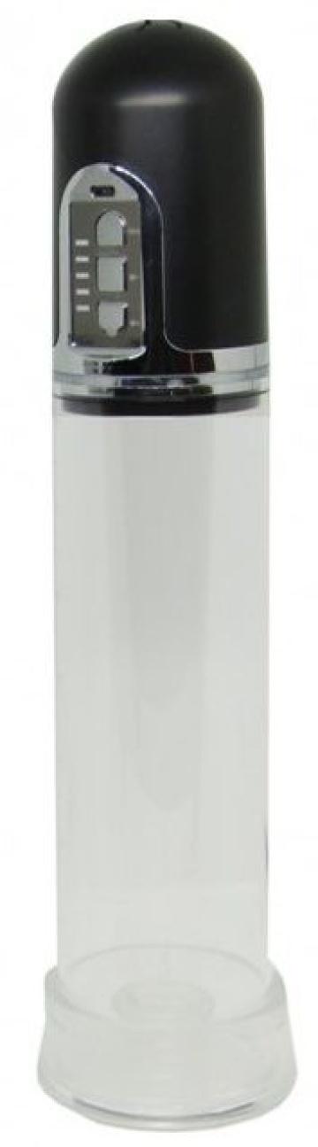 Черная вакуумная автоматическая помпа с прозрачной колбой