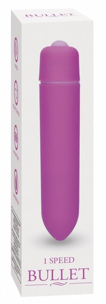 Фиолетовая вибропуля Speed Bullet - 9,3 см.