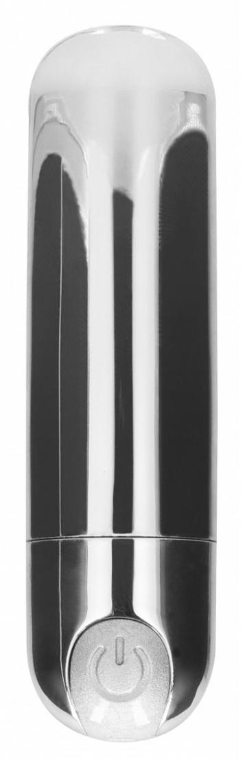 Серебристая перезаряжаемая вибропуля 7 Speed Rechargeable Bullet - 7,7 см.