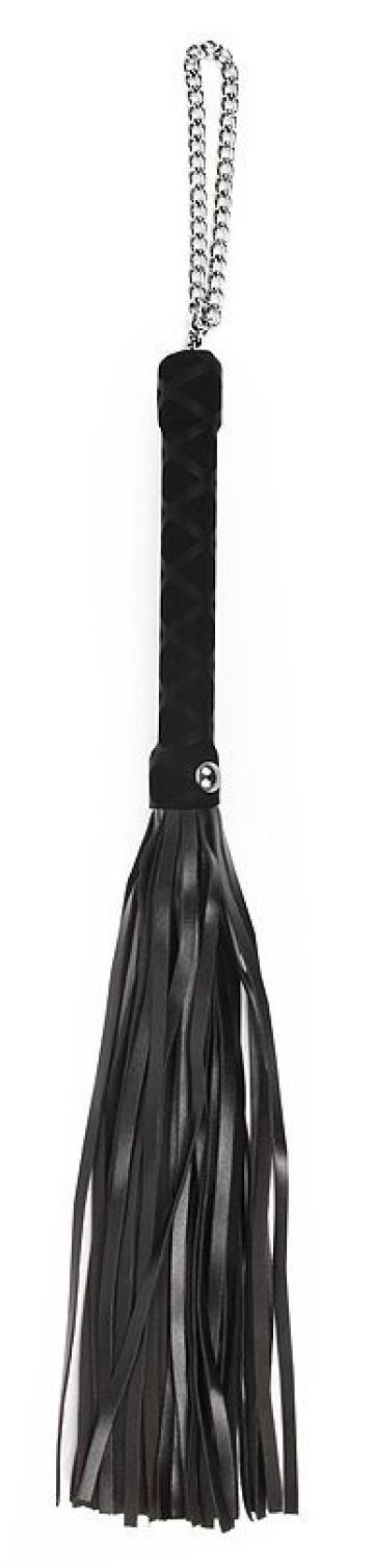 Черная многохвостая плеть-флоггер - 40 см.