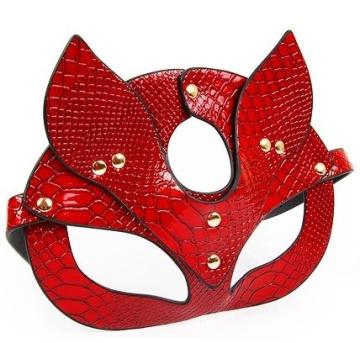 Красная игровая маска с ушками