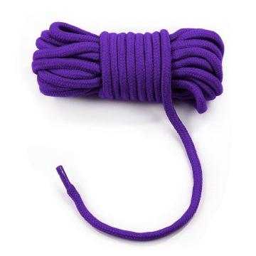 Фиолетовая верёвка для любовных игр - 10 м.