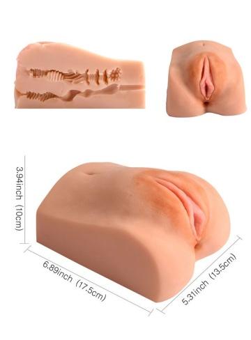 Телесная вагина с двумя рабочими отверстиями