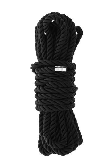 Черная веревка для шибари DELUXE BONDAGE ROPE - 5 м.