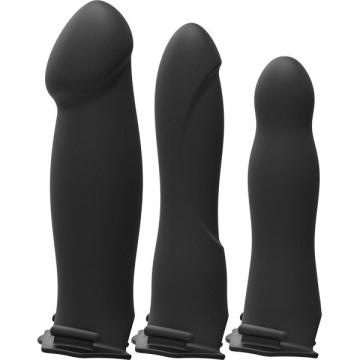 Черный пояс с 3 сменными полыми насадками BE Ready - 19, 20,3 и 17,8 см.
