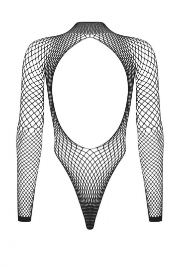 Стильное сетчатое боди с длинным рукавом