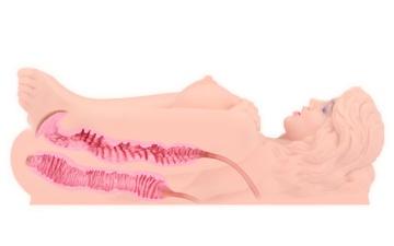 Телесный мастурбатор Victoria с двойным слоем материала