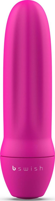 Ярко-розовая рельефная вибропуля Bmine Basic Reflex - 7,6 см.