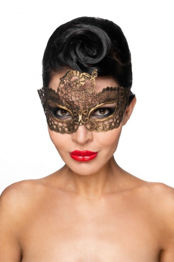 """Золотистая карнавальная маска """"Этамин"""""""