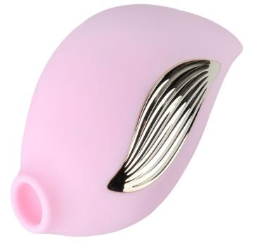 Нежно-розовый клиторальный вибростимулятор-ракушка