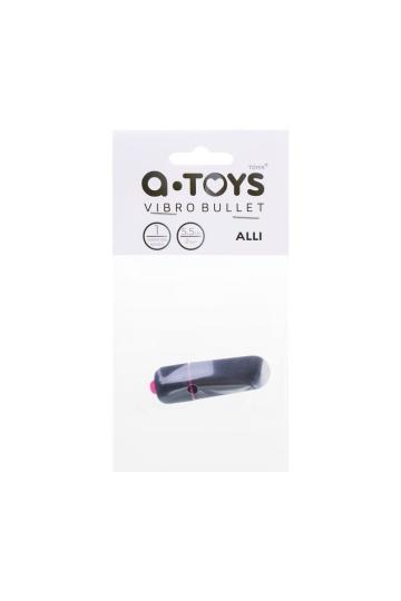 Черная вибропуля A-Toys Alli - 5,5 см.