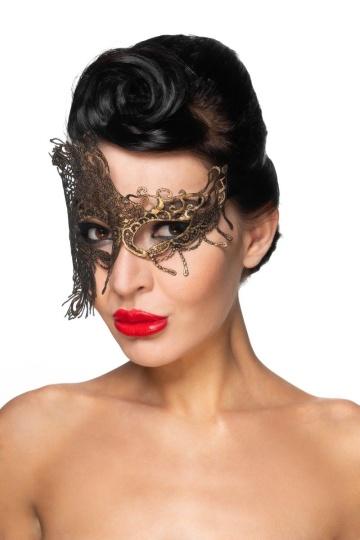 "Золотистая карнавальная маска ""Капелла"""