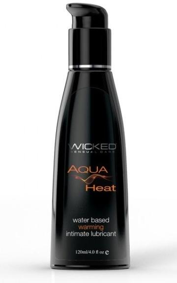 Согревающий лубрикант на водной основе Wicked AQUA HEAT - 120 мл.