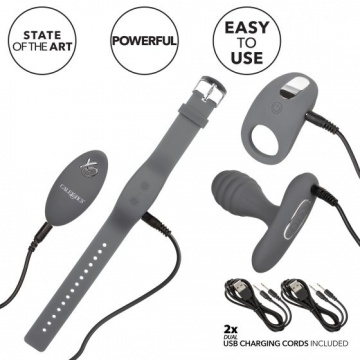 Серый вибронабор Silicone Remote Adventure Set