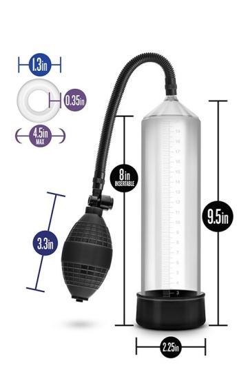 Прозрачная вакуумная помпа VX101 Male Enhancement Pump