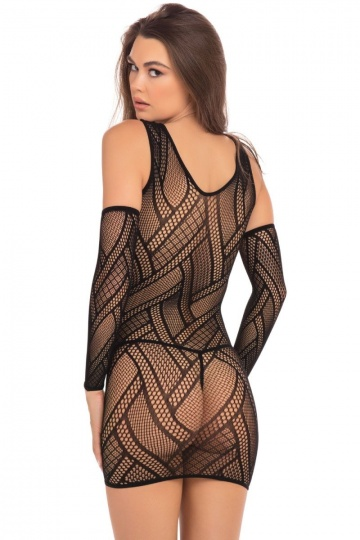 Пикантное обтягивающее платье с манжетами