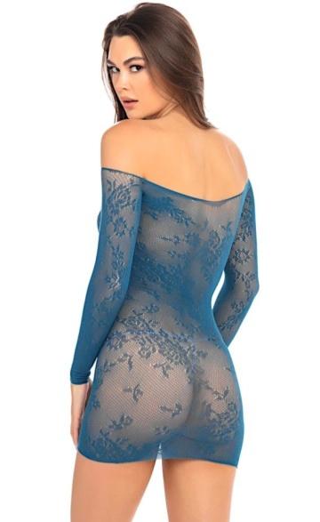 Пикантное цветочное платье с длинным рукавом