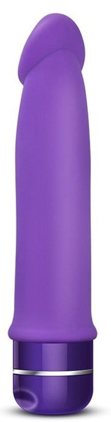 Фиолетовый вибромассажер Purity - 19 см.